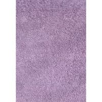 Shag Lavender Chenille Cotton Area Area Rug - 3'2 x 4'8