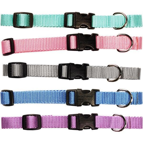 "Pastel Collection Adjustable Nylon Pet Collar (LG/XL, 1"" ..."
