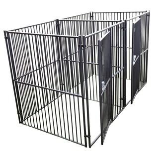 Lucky Dog Modular European Style 2-Run Kennel w/ Common Wall (5 x 5 x 7)