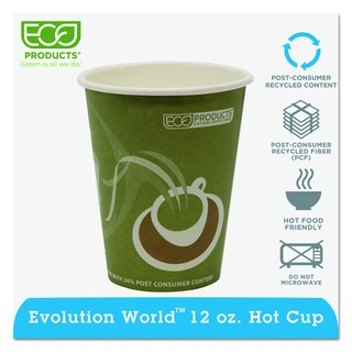 Eco-Products Evolution World Sea Green 12-ounce Hot Drink Cups (Pack of 1,000)