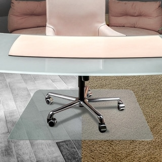 Cleartex Anti-Slip UnoMat Rectangular Chairmat for Polished Hard Floors, Very Low Pile Carpets and Carpet Tiles (48 X 53)