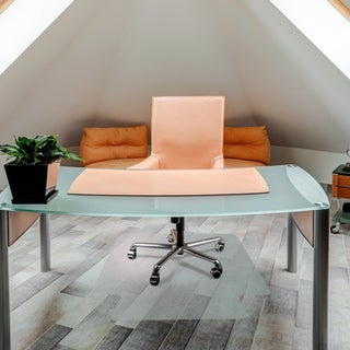 "Cleartex UnoMat Anti-Slip Chair Mat Rectangular with Lip Size 48"" x 60"""