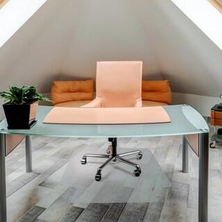 "Cleartex UnoMat Anti-Slip Chair Mat Rectangular with Lip Size 48"" x 53"""