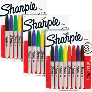 Sharpie Fine Point Assorted Ink Permanent Markers (Pack of 24)