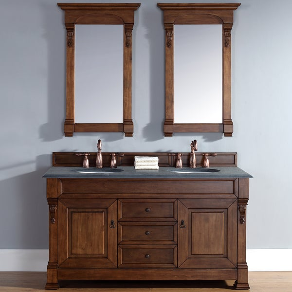 60 Inch Brookfield Country Oak Double Vanity