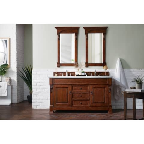 """Brookfield 60"""" Double Cabinet, Warm Cherry"""