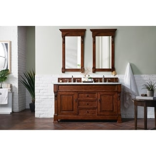 60-inch Brookfield Warm Cherry Double Vanity