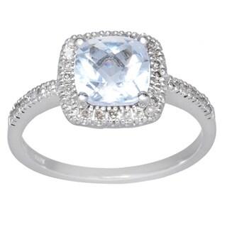 10k White Gold Gemstone and 1/5ct TDW Diamond Ring (H-I, I1)