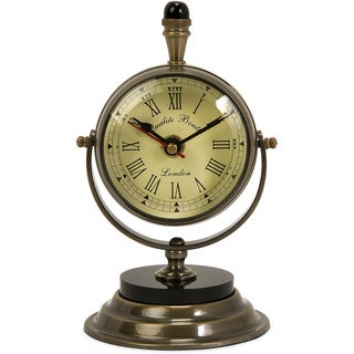 Soren Brass Table Clock