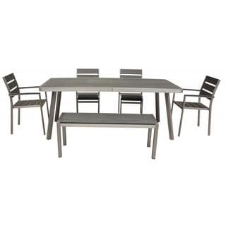 Canaria 6-piece Polylumber Outdoor Dining Set