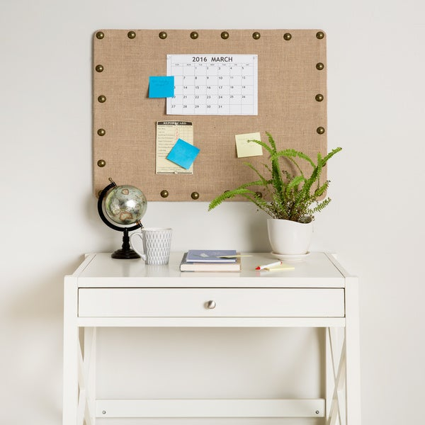 Oh! Home Linon Burlap Medium Nailhead Corkboard - Free Shipping ...