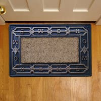 A1HC- First Impression High Utility Rubber and Coir Chain Home Doormat (1'6 x 2'6)