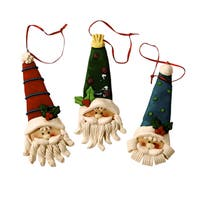 Santa Head Cookie Dough Ornaments (Set of 12)