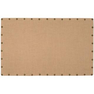 Linon Large Burlap Nailhead Corkboard