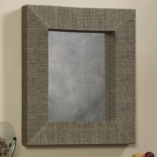 Linon Mendong with Black Thread Rectangle Mirror