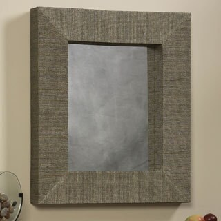 Linon Mendong with Black Thread Rectangle Mirror