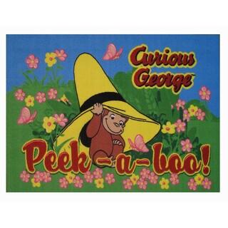 Curious George Multi-color Nylon Area Area Rug (1'6 x 2'4) - 1'6 x 2'4
