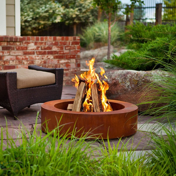 Real Flame Orbea Corten Fire Pit Free Shipping Today
