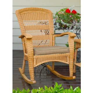 Tortuga Outdoor Plantation Southwest Amber Rocking Chair
