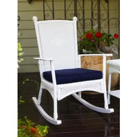 Shop Copper Grove Uinta White Plantation Rocking Chair