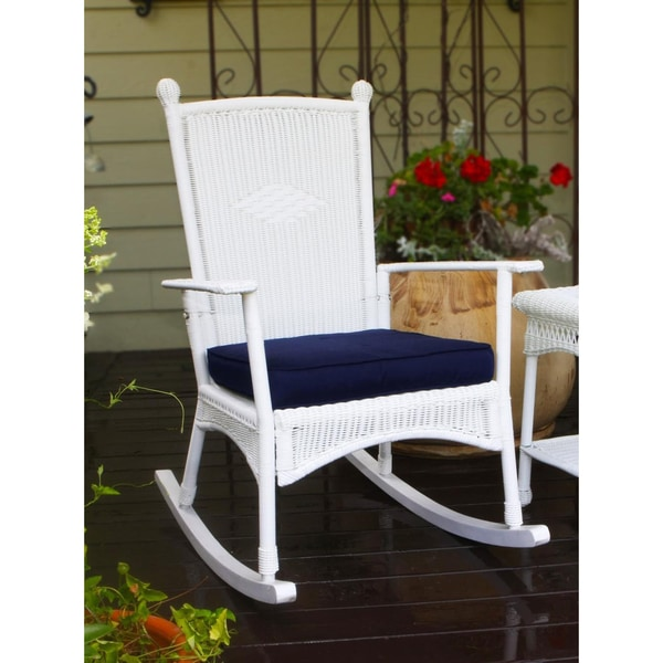 Shop Tortuga Outdoor White Classic Rocking Chair Free