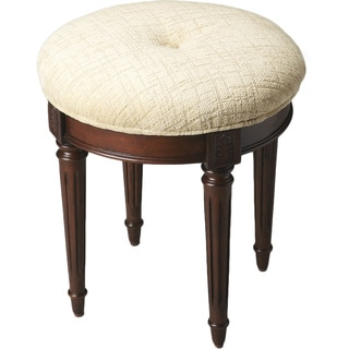 Cherry Finish Vanity Stool