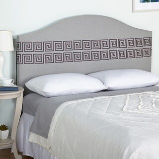 Simple Living Light Grey Messina Embroidered Upholstered Queen Headboard