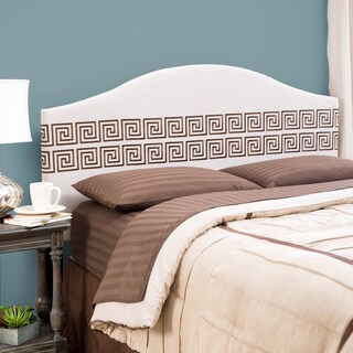 Simple Living Messina Embroidered Upholstered Queen Headboard