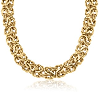 Gioelli 14k Gold Heavyweight 21.8gm 20-inch Byzantine Necklace