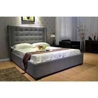 King Fabric Platform Bed
