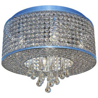 Heaven 7-light Flush Chrome Crystal Chandelier