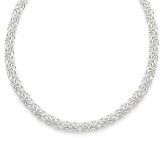 Gioelli Sterling Silver and Gold-plated 20-inch Byzantine Necklace - White