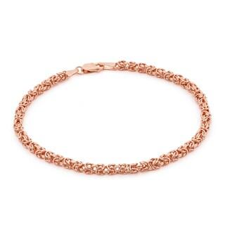 Gioelli 14k Rose Gold Petite Byzantine Bracelet