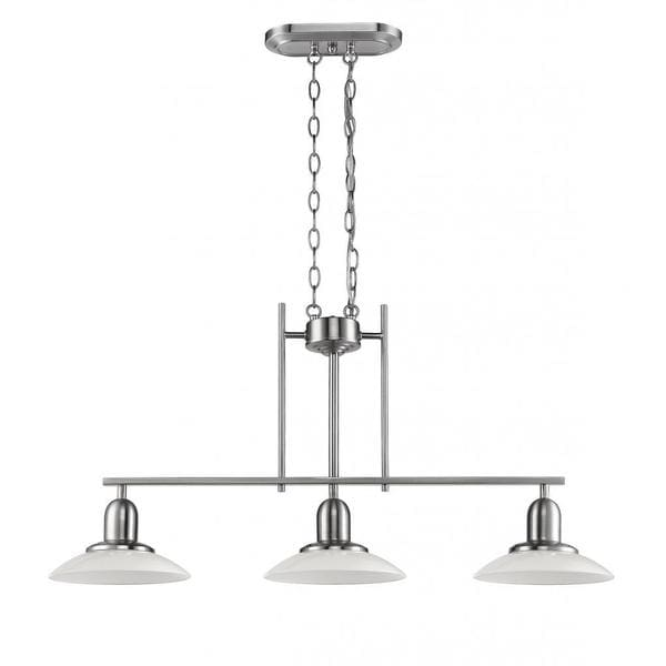 Chloe Lighting Contemporary Brushed Nickel 3 Light Island