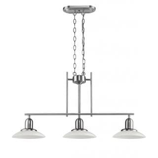 Chloe Lighting Contemporary Brushed Nickel 3-light Island/Pool Table Light