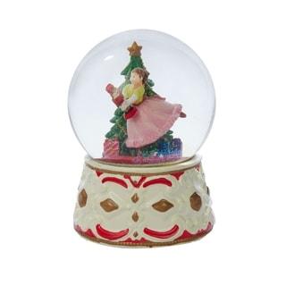 Kurt Adler 5.5-inch Clara with Nutcracker Musial Snow Globe
