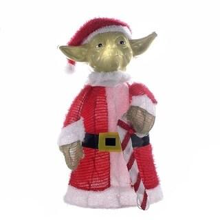 Kurt Adler 28-inch Santa Yoda 3D Tinsel Lawn Decor