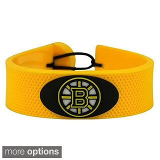 NHL Hockey Sports Team Logo Gamewear Leather Bracelet