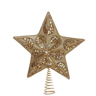 Kurt Adler 14-inch Silver and Gold Treetop