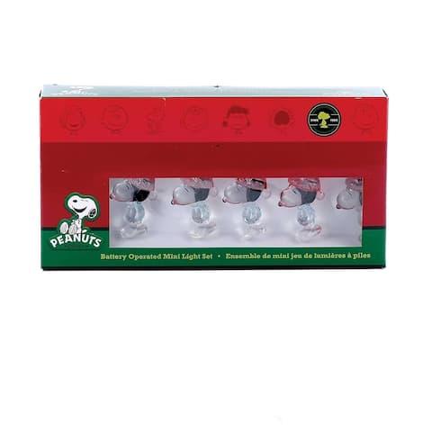 Kurt Adler 15-Light LED Peanuts Snoopy Miniature Light Set