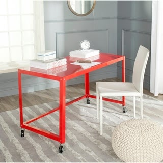 Safavieh Bentley Modern Wheeled Red Desk