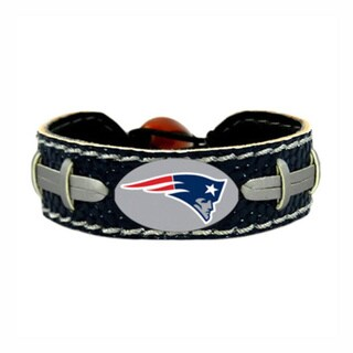 "NFL Football Sports Team Logo Gamewear Leather Bracelet - 6""L"