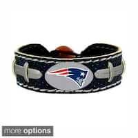 "NFL Football Sports Team Logo Gamewear Leather Bracelet - 6""L"