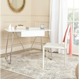 Safavieh Malloy White/ Chrome Desk