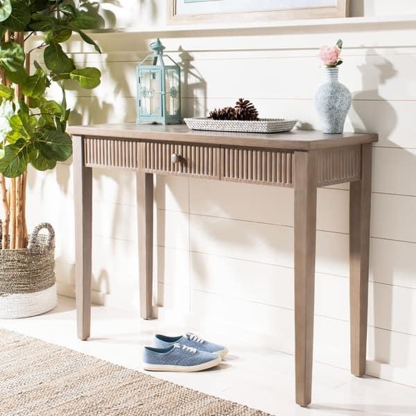 Prime Shop Safavieh Beale Grey Console Table 43 3 X 15 8 X 32 Ibusinesslaw Wood Chair Design Ideas Ibusinesslaworg