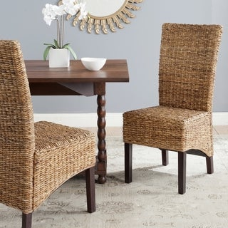 "Link to SAFAVIEH Rural Woven Dining Kiska Natural Dining Chairs (Set of 2) - 18.1"" x 23.2"" x 40.6"" Similar Items in Kitchen & Dining Room Chairs"