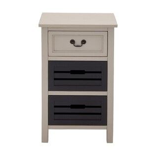 Casa Cortes Oxford 3-drawer Solid Wood Two-tone Night Stand