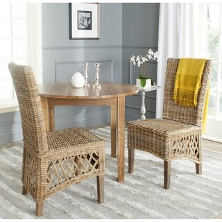Safavieh Sumatra Kubu Soft Grey Dining Chair (Set of 2)