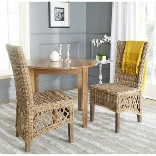 Safavieh Sumatra Kubu Soft Grey Dining Chair (Set of 2)