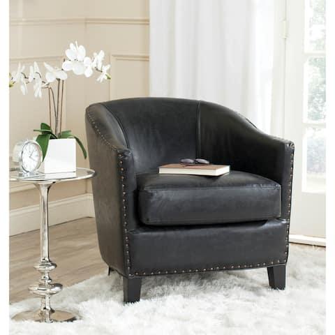 "Safavieh Evander Antique Black Club Chair - 28.9"" x 31.3"" x 30.3"""